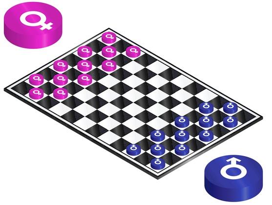 Battle of the sexes © Baz777 | Dreamstime.com