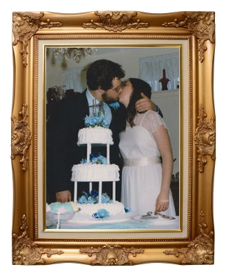 Paul & Lori at their wedding reception. © Paul H. Byerly