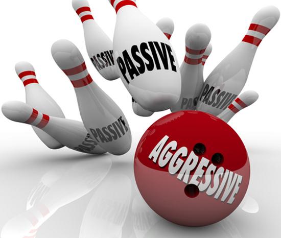 The passive/aggressive game © Iqoncept | Dreamstime.com