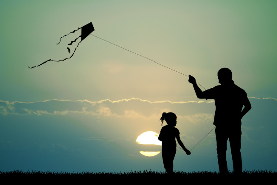 Father and Daughter with Kite  © adrenalinapura | dollarphotoclub.com
