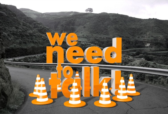 We need to talk road block © Thomas R. | dollarphotoclub.com