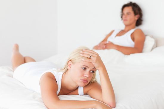 Frustrated wife in bed © WavebreakmediaMicro | dollarphotoclub.com