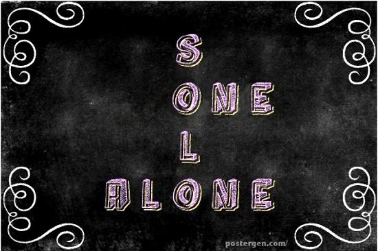 One, solo, alone © Postgen