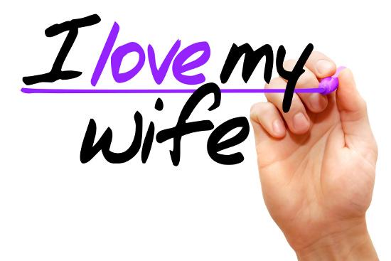 I love my wife © dizain | stock.adobe.com